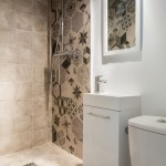 Petit Jean Properties for Contemporary Bathroom with White Frame Wall Mirror