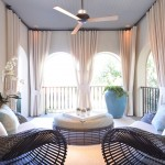 Petit Jean Properties for Transitional Porch with Curtains