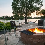 Pf Changs Omaha for Contemporary Landscape with Flagstone