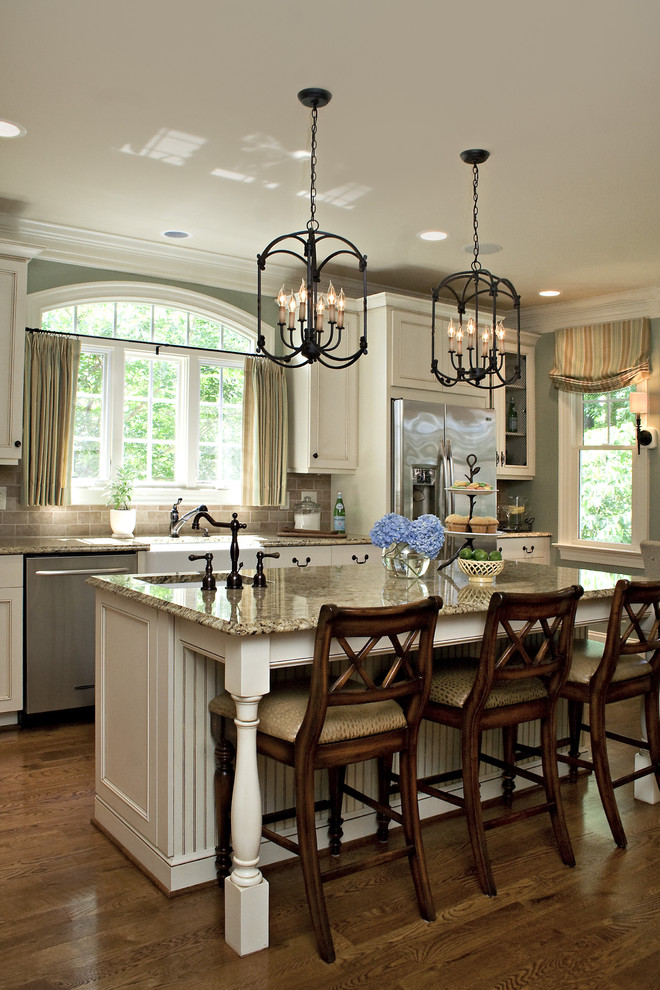 Pf Changs Raleigh for Traditional Kitchen with Distressed Finish