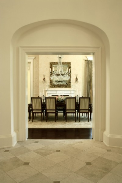 Pierce Flooring for Traditional Dining Room with Diagonal Pattern