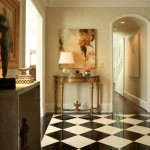 Pierce Flooring for Traditional Entry with Glass Table Lamps