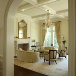 Pierce Flooring for Traditional Living Room with White Trim