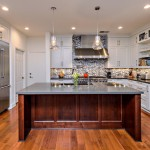 Pirch for Transitional Kitchen with Black and White Backsplash