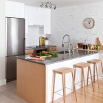 Platte Clay Electric for Contemporary Kitchen with Two Tone Cabinets