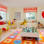 Playrooms for Contemporary Kids with Built in Shelves