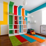 Playrooms for Contemporary Kids with Green Rug