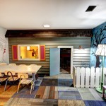 Playrooms for Midcentury Kids with Lap Siding