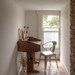 Plywood Plank Floor for Eclectic Home Office with Attic Conversion