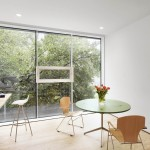 Plywood Plank Floor for Modern Home Office with Plywood Chairs