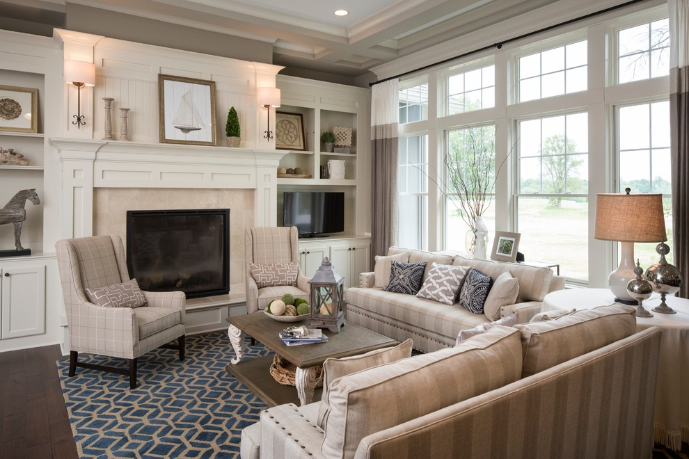 Pmac Lending Services for Traditional Living Room with Blue Area Rug
