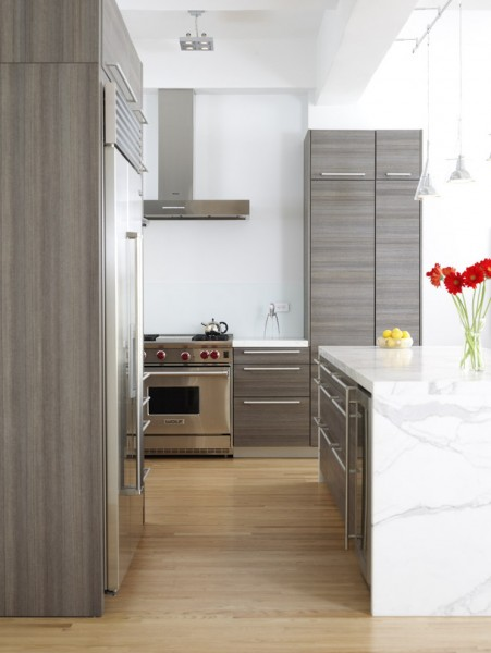 Poggenpohl for Contemporary Kitchen with Calacatta Marble Panels