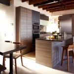 Poggenpohl for Modern Kitchen with Wood Counter Stools
