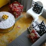 Polka Dog Bakery for Contemporary Living Room with Arco Lamp