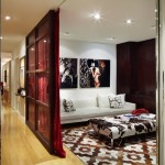 Poltrona Frau for Contemporary Home Theater with Rug Company