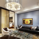 Poltrona Frau for Contemporary Living Room with Chandelier
