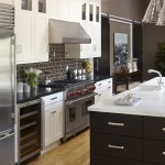 Polyblend Grout Colors for Transitional Kitchen with Dark Cabinets