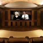 Port Chester Theater for Traditional Home Theater with Leather Armchair