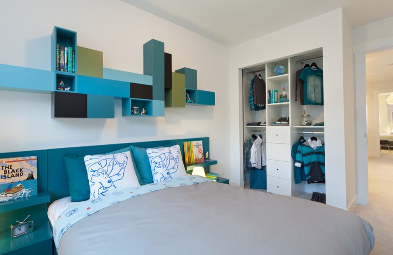 Portico Designs for Contemporary Kids with Wood Headboard
