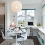 Portico Designs for Contemporary Kitchen with Bookshelves