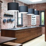 Potomac Valley Brick for Contemporary Kitchen with Wood Cabinets