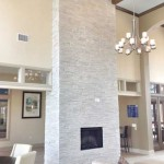 Potomac Valley Brick for Modern Family Room with Sherpa Stone