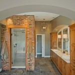 Potomac Valley Brick for Transitional Bathroom with Exposed Brick