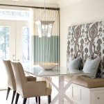 Pottery Barn Returns for Transitional Kitchen with Curtain Panels