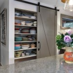 Pottery Barn Returns for Transitional Kitchen with Pantry