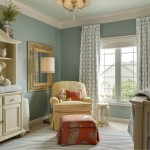 Pottery Barn Room Planner for Traditional Nursery with Painted Ceiling