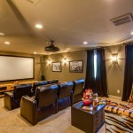 Poway Movie Theater for Mediterranean Home Theater with Lake Home
