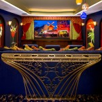 Poway Movie Theater for Traditional Home Theater with Blue Wall