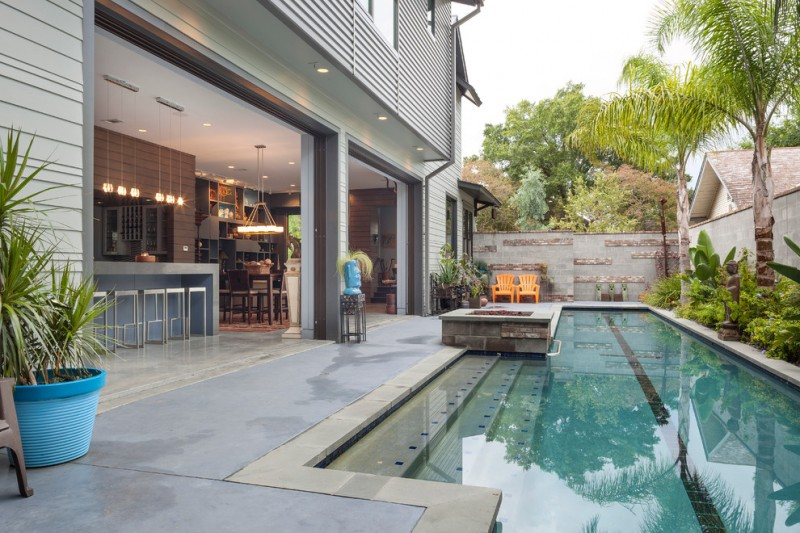 Power Outage Houston for Contemporary Pool with Fence