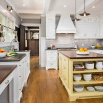 Pratt and Larson for Traditional Kitchen with Benjamin Moore Fresh Butter