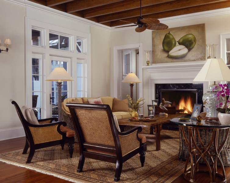 Precedent Furniture for Tropical Living Room with Warm