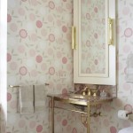 Preppy Wallpaper for Traditional Bathroom with Pink