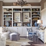 Primos Dallas for Beach Style Home Office with Built in Shelves