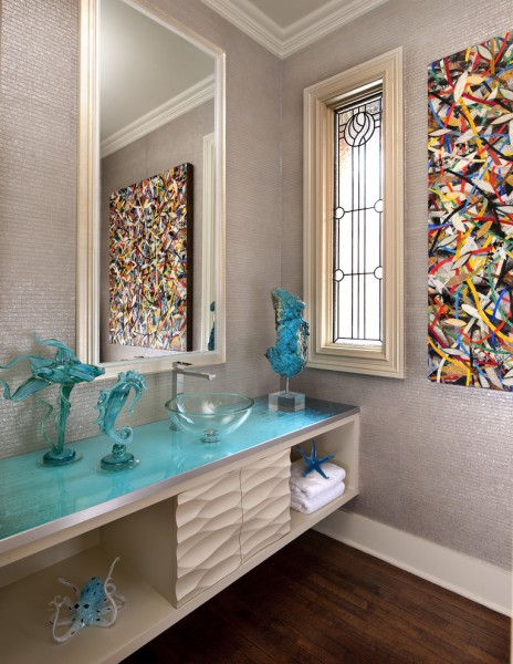 Primos Dallas for Contemporary Powder Room with Award Wining Powder Room
