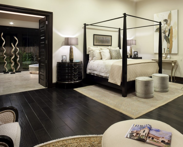 Prosource Flooring for Mediterranean Bedroom with Sculpture