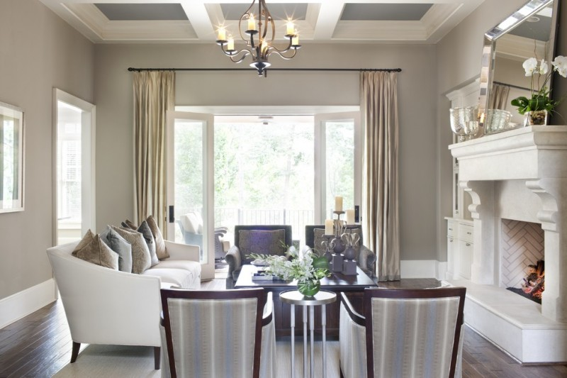 Puritan Furniture for Traditional Living Room with Window Treatments