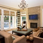 Qmotion Shades for Traditional Family Room with Beige Wall