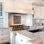 Quartz Countertops vs Granite for Transitional Kitchen with Built in Oven Hood
