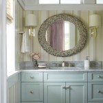 Quietude for Beach Style Bathroom with Striped Wall Paper