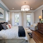 Quietude for Traditional Bedroom with Drumshade Pendant Light