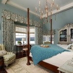 Quietude for Traditional Bedroom with Floral Curtains