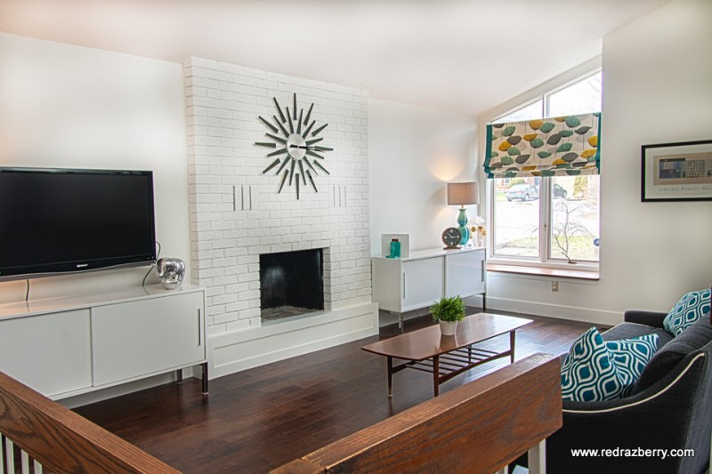 Razberry for Midcentury Family Room with Great Room