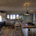 Reclaimed Wood San Diego for Beach Style Kitchen with Industrial Pendant Light