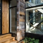 Reclaimed Wood San Diego for Contemporary Entry with Glass Staircase