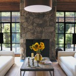 Reclaimed Wood San Diego for Farmhouse Living Room with Oversized Pendant Light