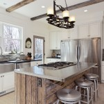Reclaimed Wood San Diego for Transitional Kitchen with Stainless Steel Counter